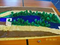 Plastisches Modell des Bachverlaufs