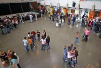 Die Pausenhalle des Geschwister-Scholl-Gymnasiums Pulheim.<br />© Foto: Renate Bonow<br />