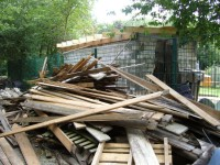 Die Dachbalken sind gesetzt